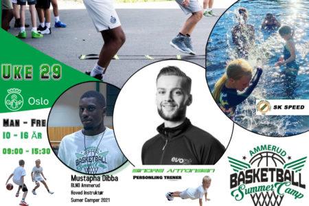 SummerCamp uke 29 i samarbeid med Svømmeklubben Speed, og populære PT trener Sindre Antonsen.